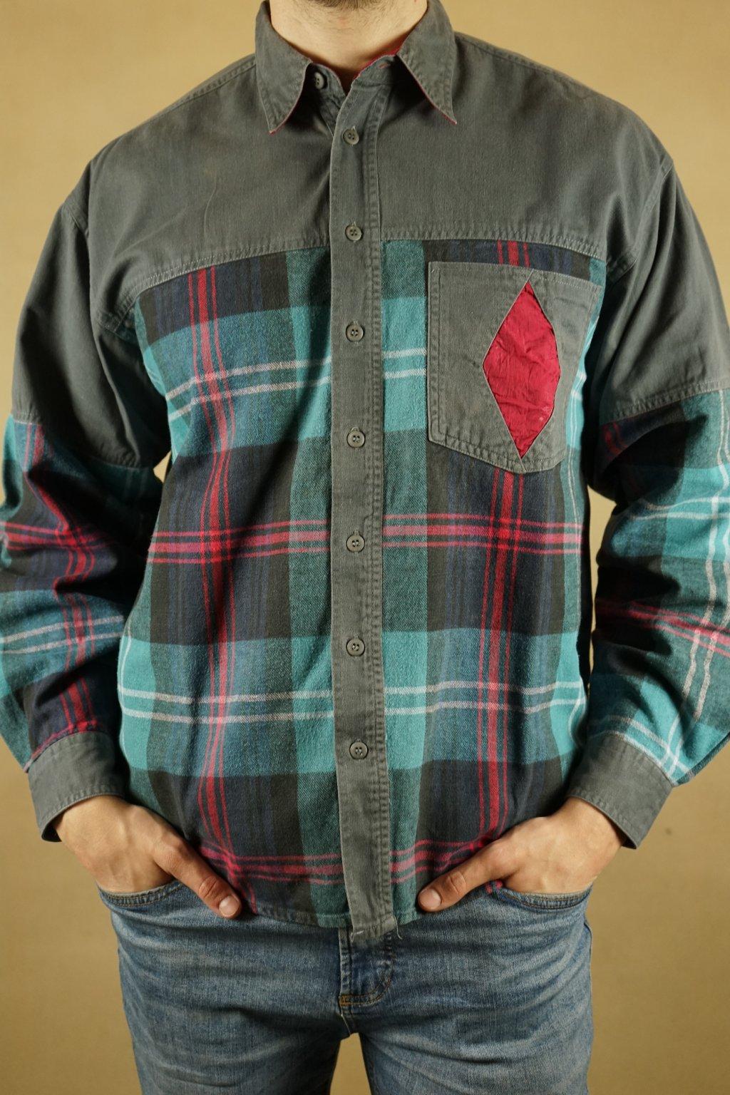 Károvaná flanelová košile vel. L/XL