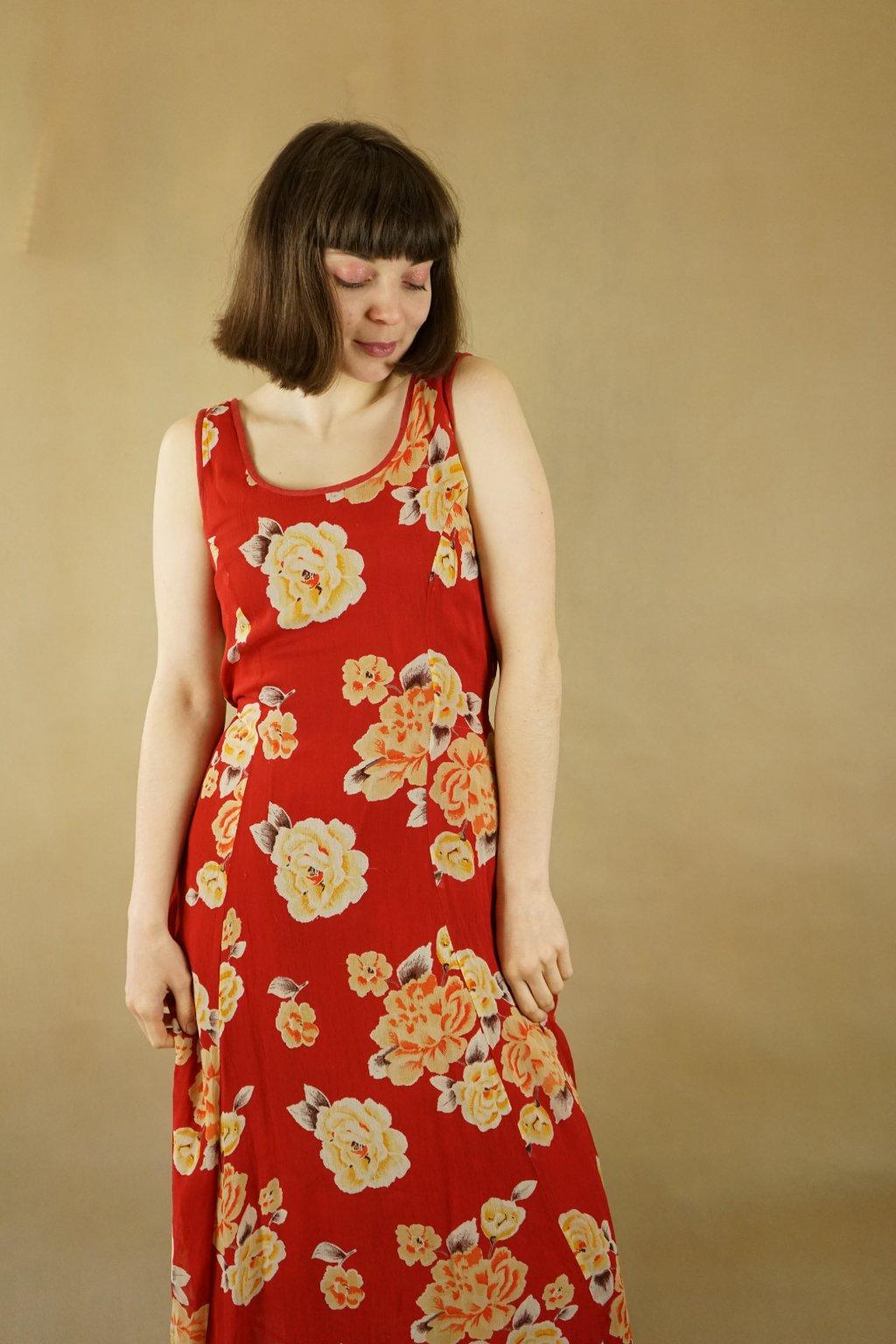 90s květinové šaty vel. S