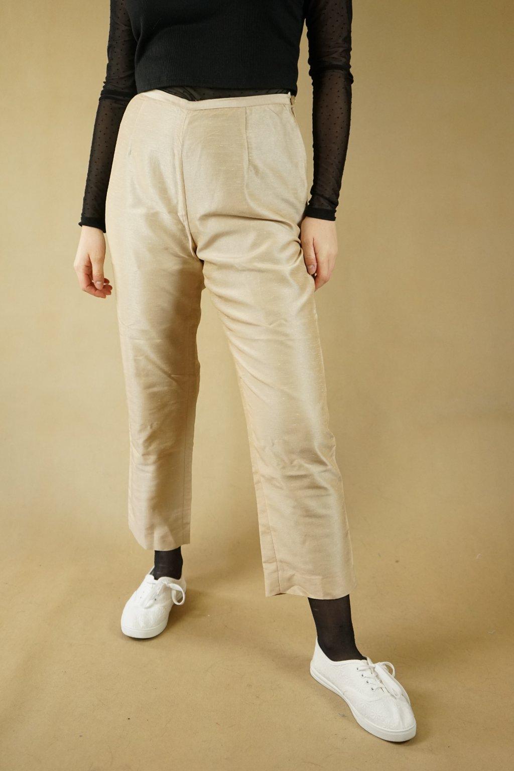 Béžové kalhoty vel. S/M
