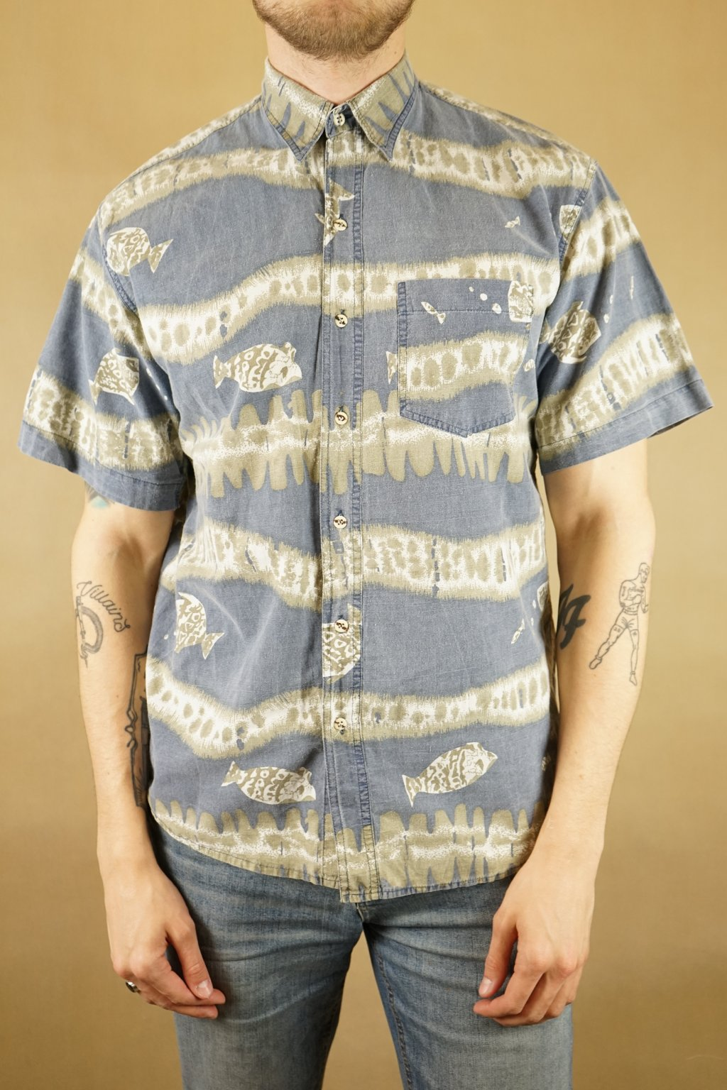 Košile s rybami vel. L/XL