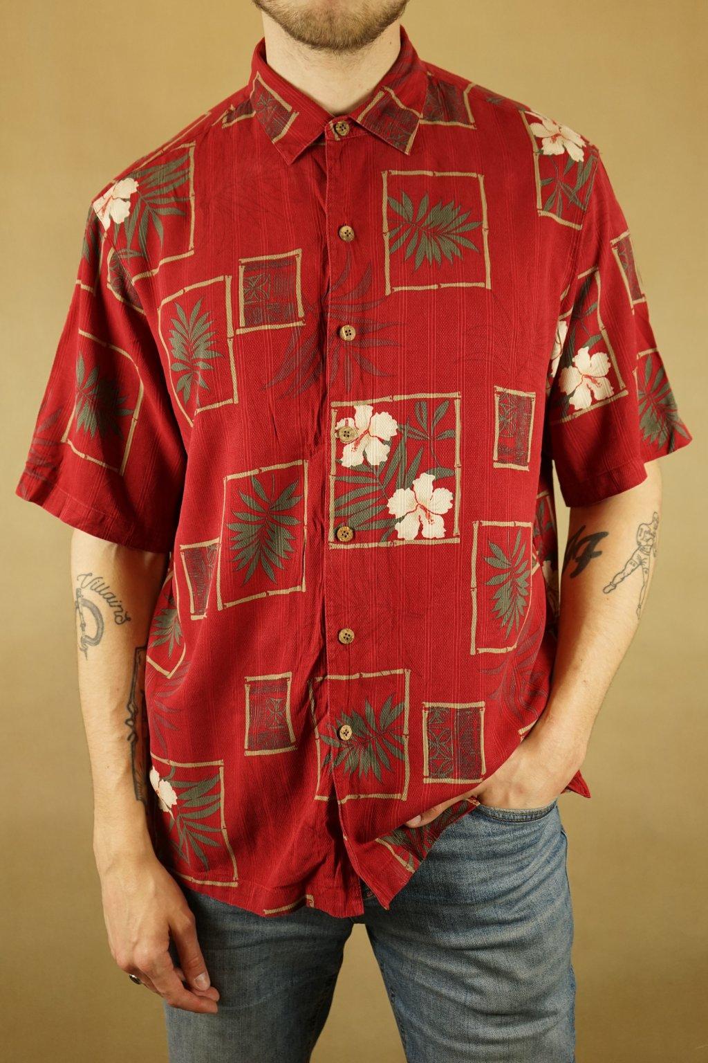 Havajská hedvábná košile vel. XL
