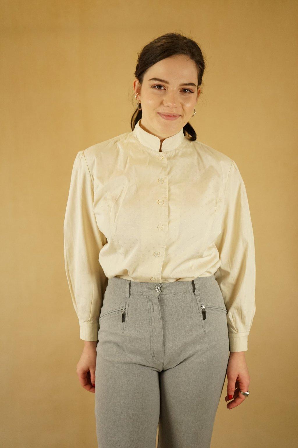 Krémová košile vel. XL