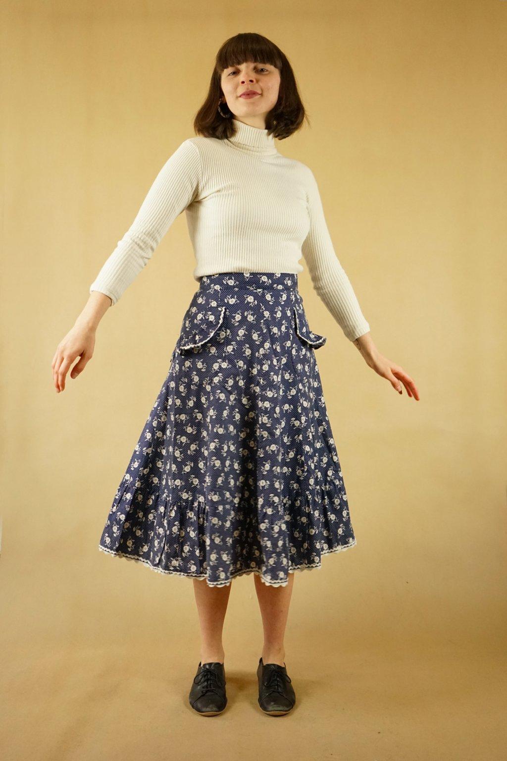Květinová sukně vel. UNI