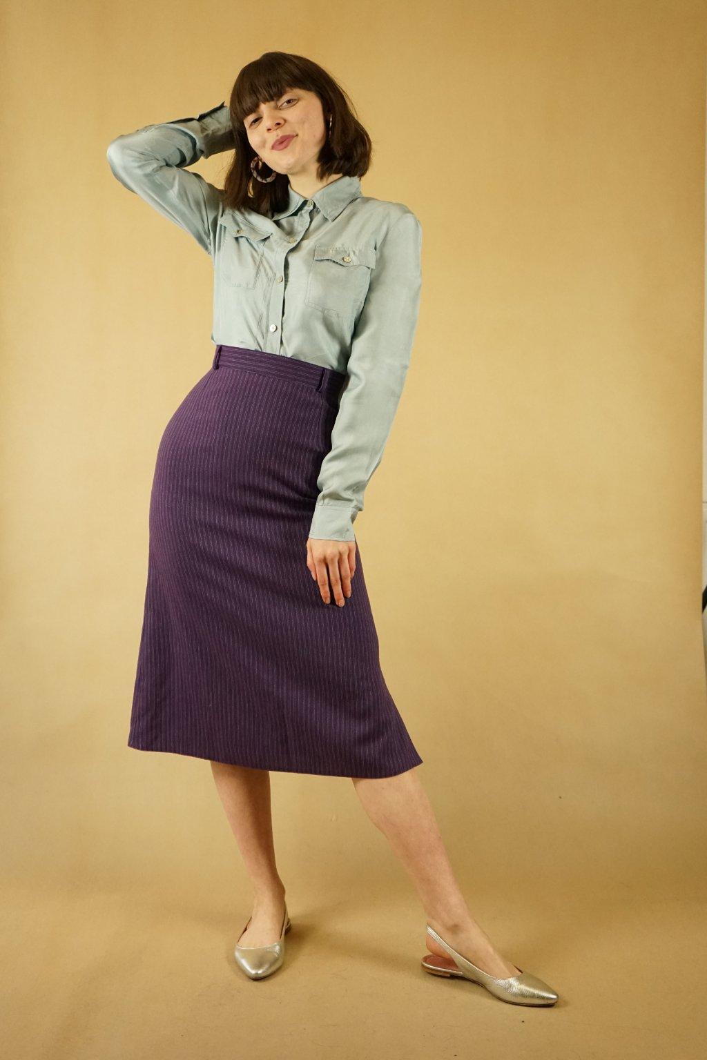 Vlněná sukně vel. XS