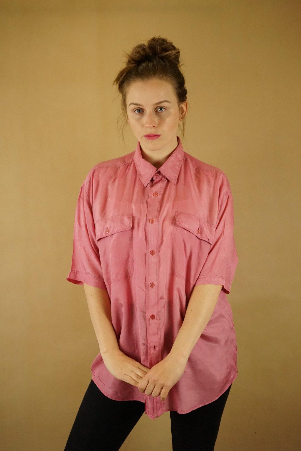 Hedvábná košile vel. XL