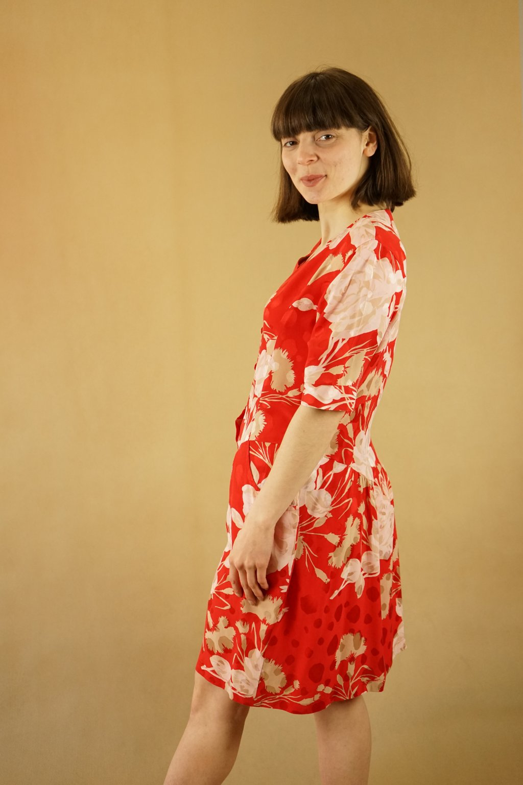 Hedvábné šaty vel. S/M