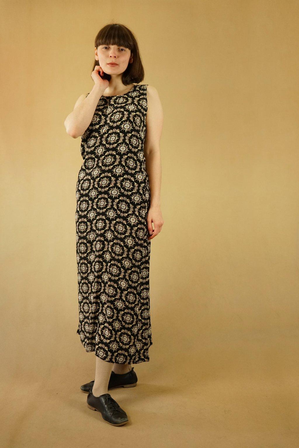 90s vzorované šaty vel. S