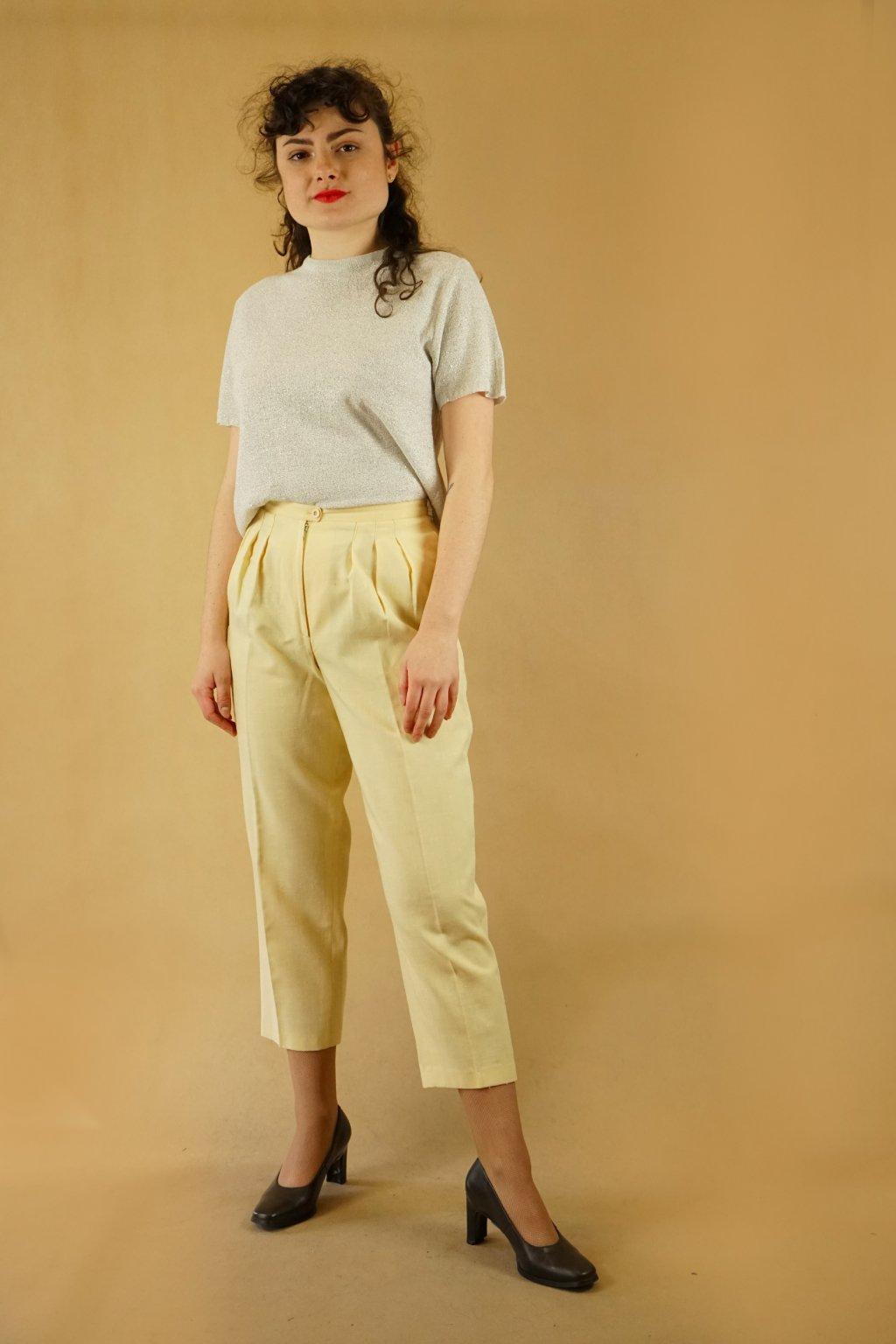 Žluté kalhoty do pasu vel. XS/S