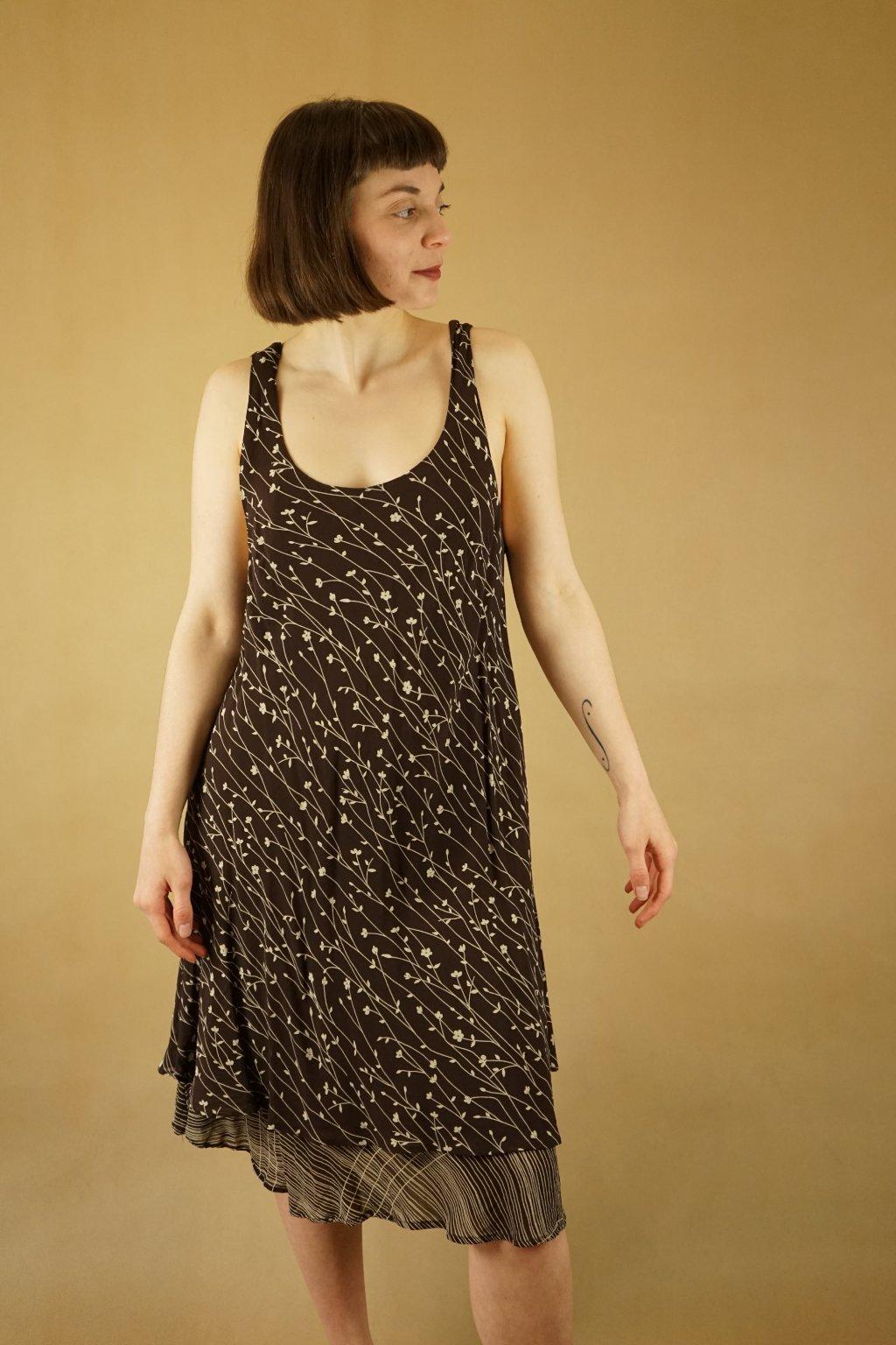 Vzorované šaty vel. L