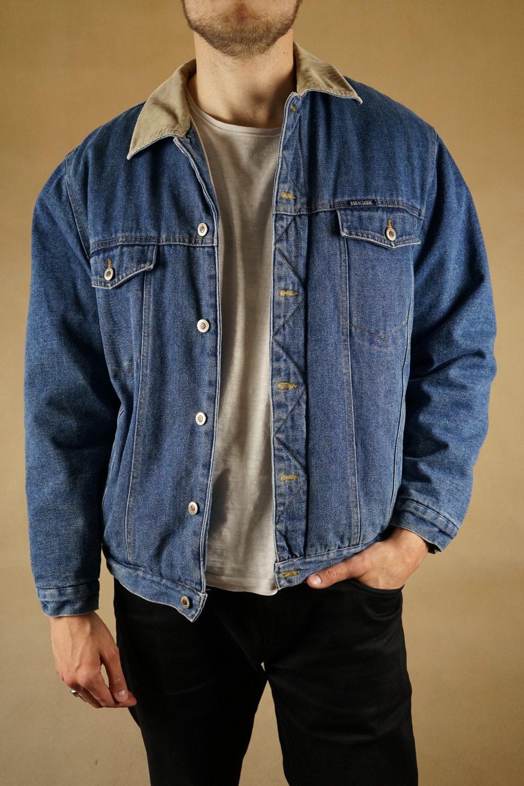 Džínová bunda s podšívkou vel. XL