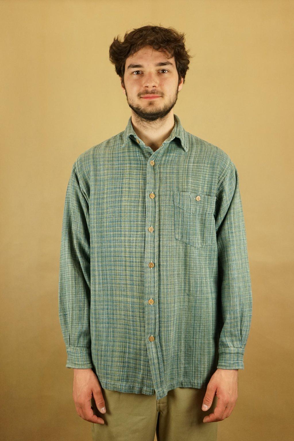 Flanelová vzorovaná košile vel. L