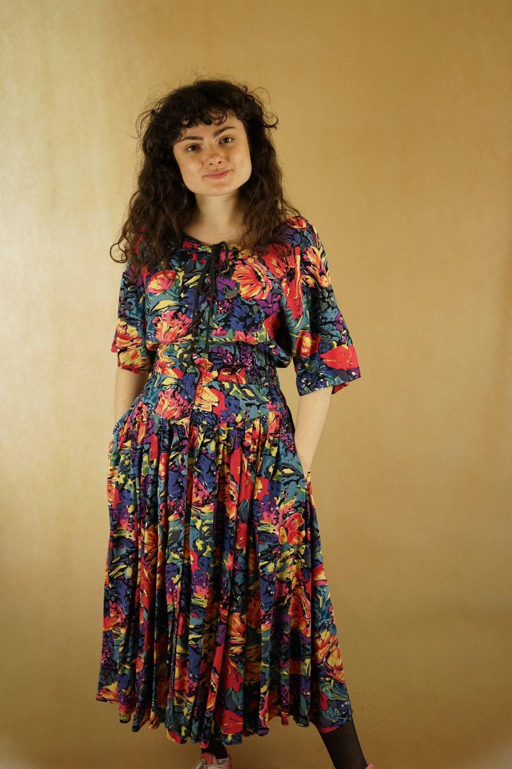 Květinové šaty vel. S/M