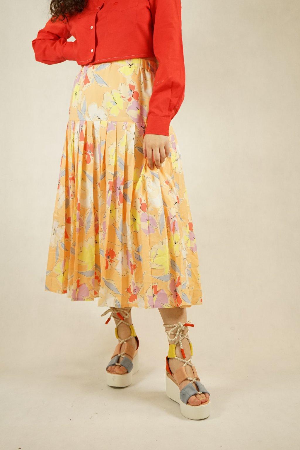 Květinová sukně vel. M