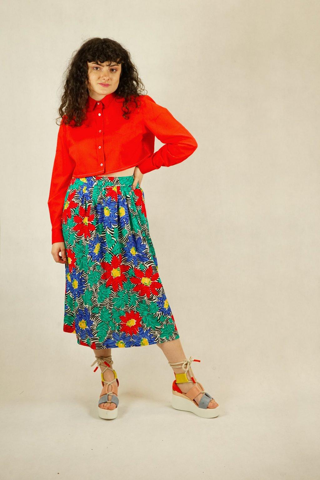 Květinová sukně vel. L/XL