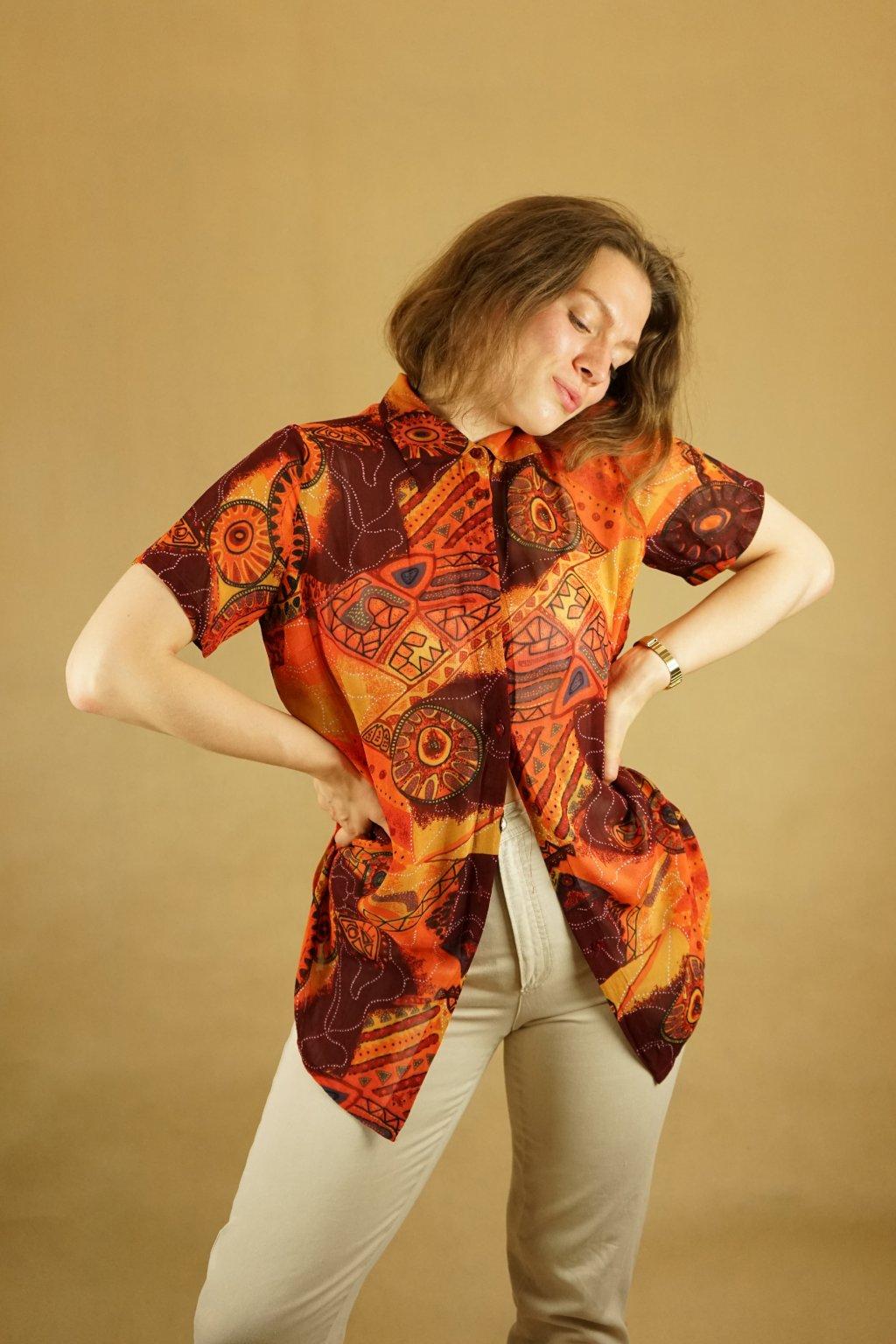 Vzorovaná košile vel. M/L