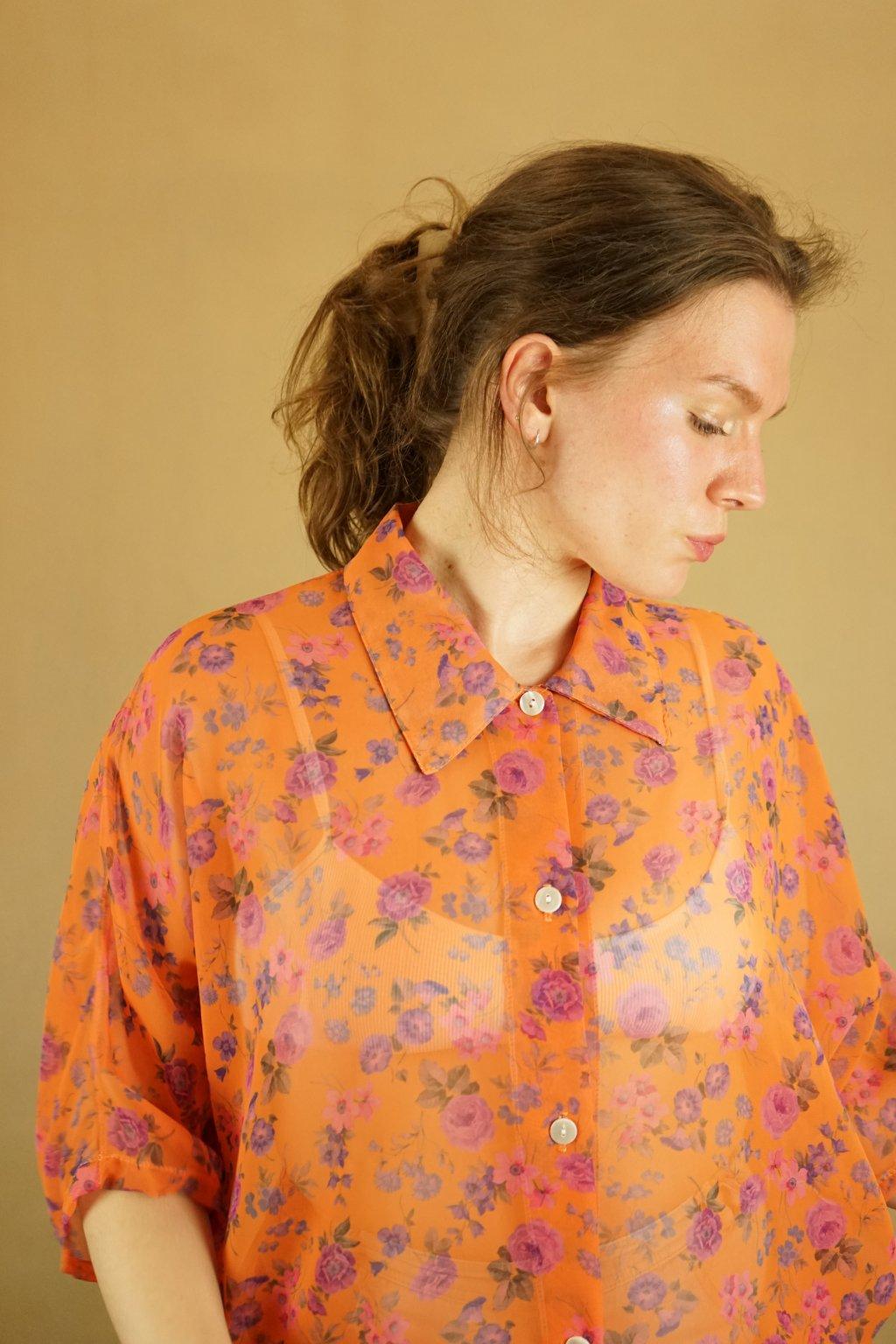 Květinová košile vel. XL