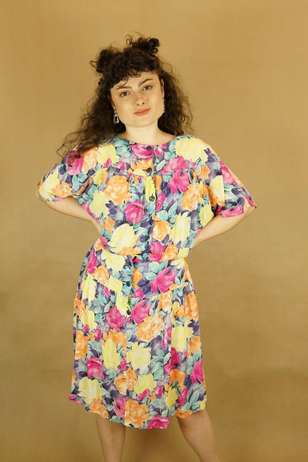 Květinové šaty vel. L