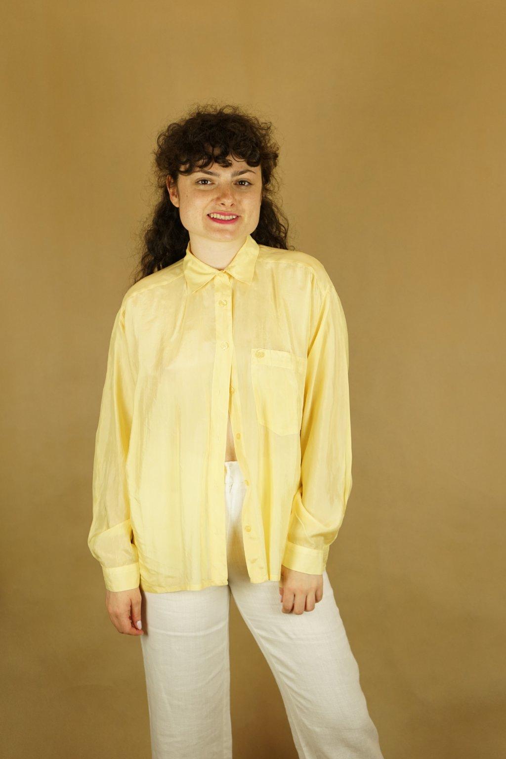 Hedvábná košile vel. L