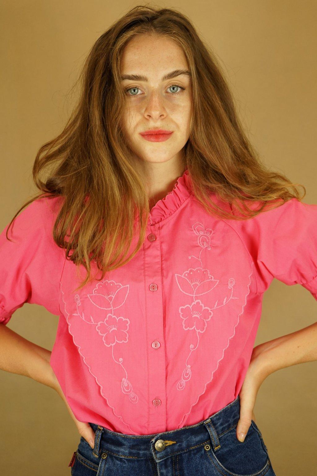 Růžová košile vel. M