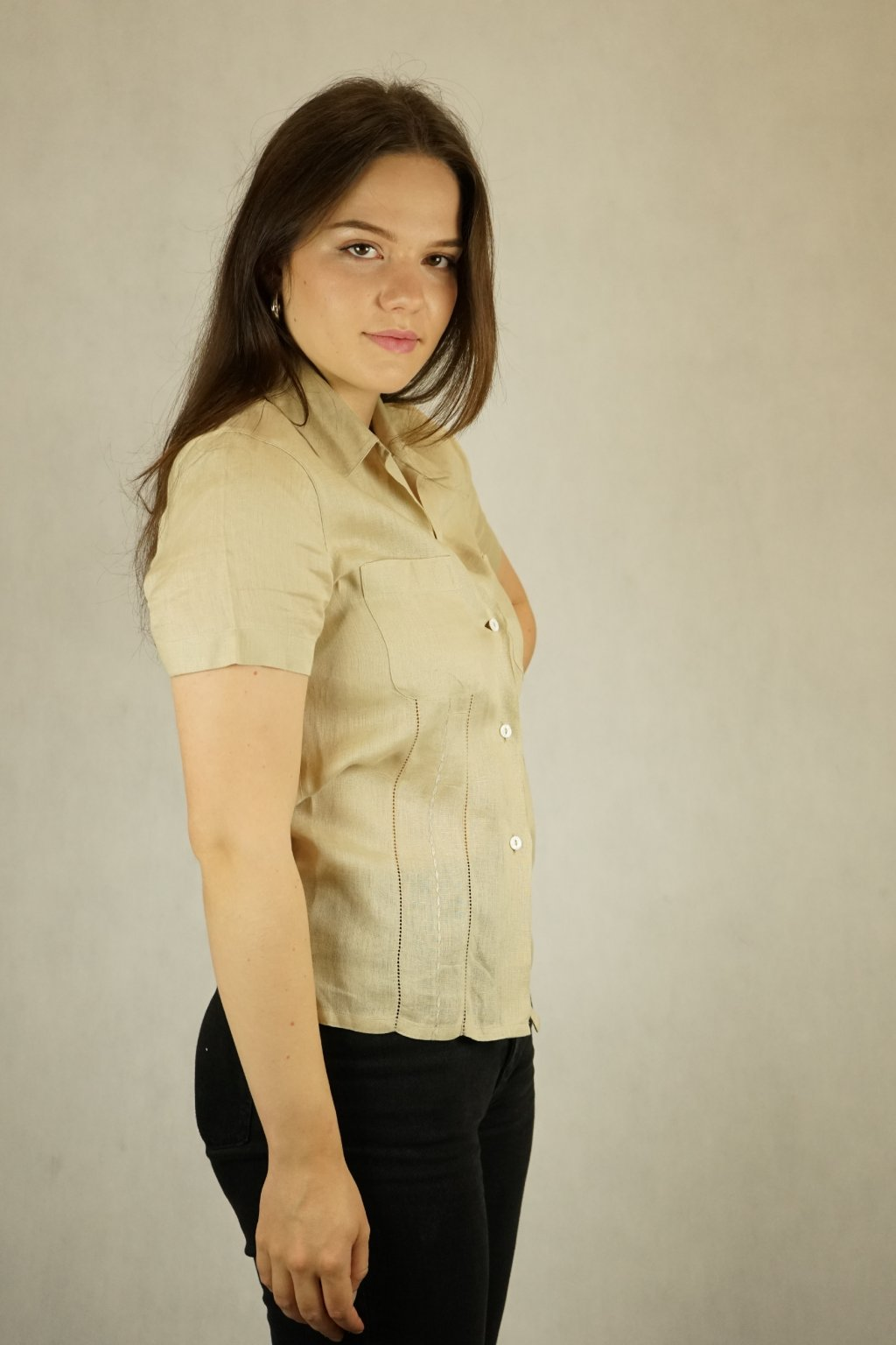 Lněná košile vel. S