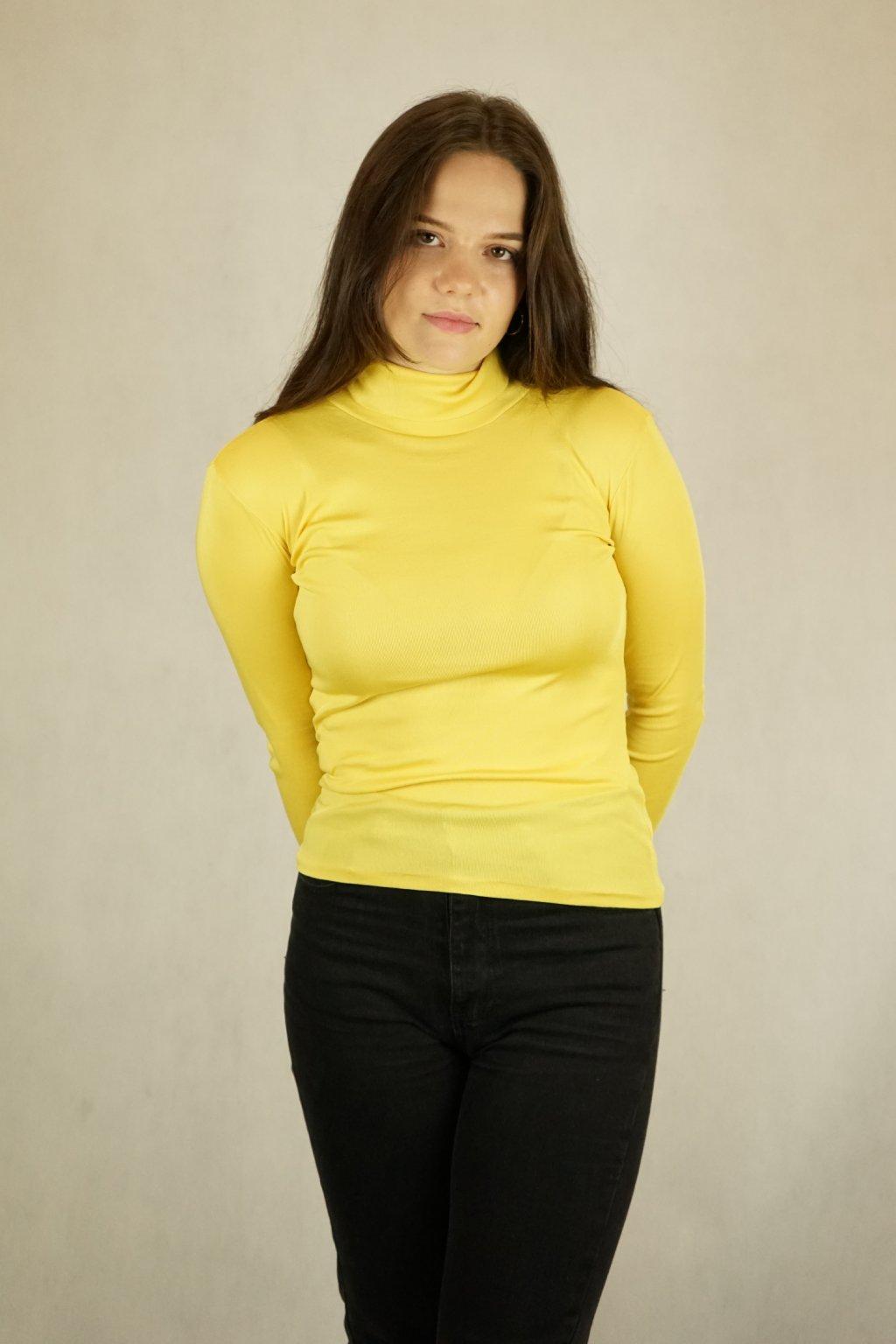 Žlutý rolák vel. S/M