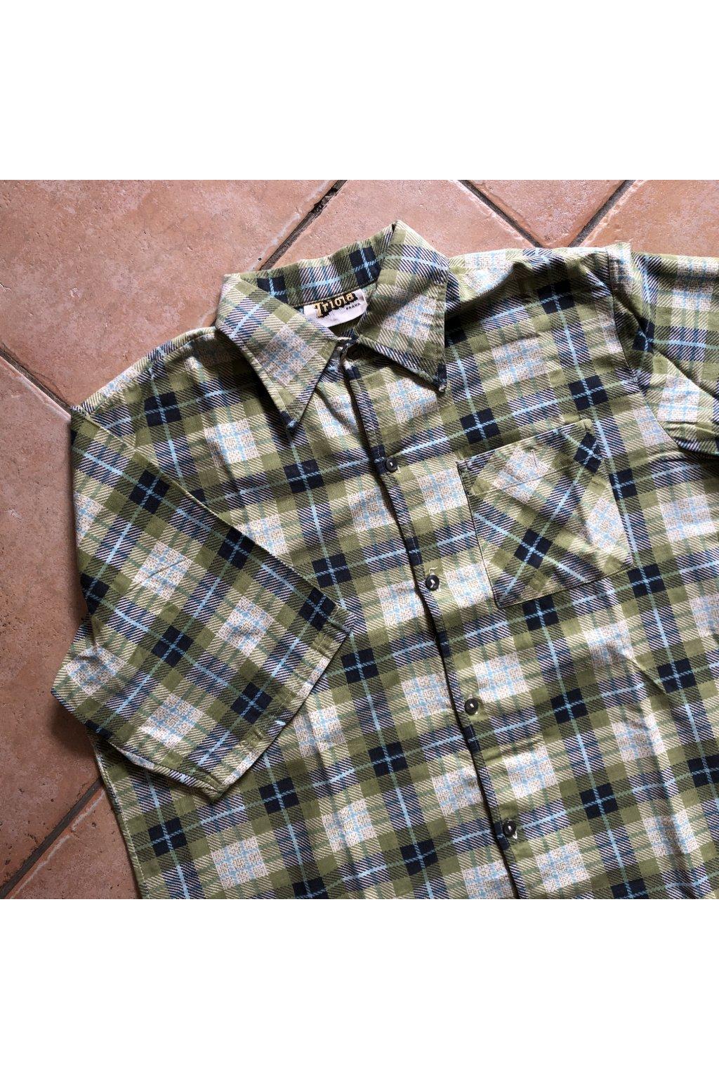 Károvaná košile s krátkým rukávem Triola Praha vel. M/L