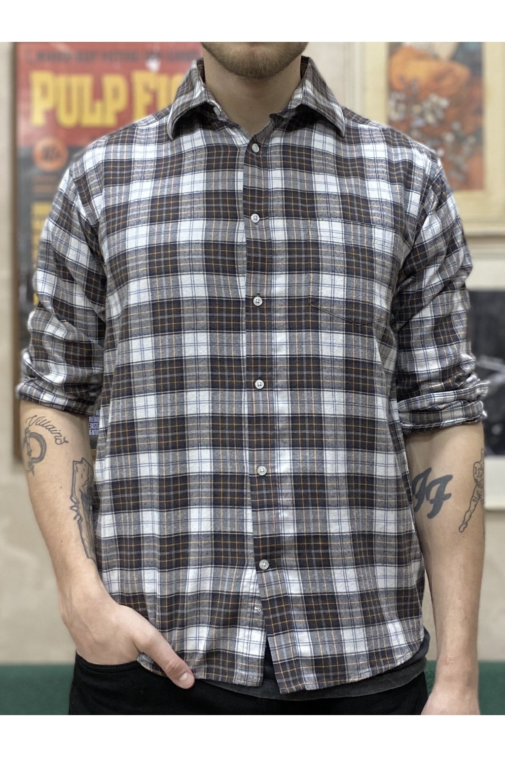 Károvaná flanelová košile vel. L