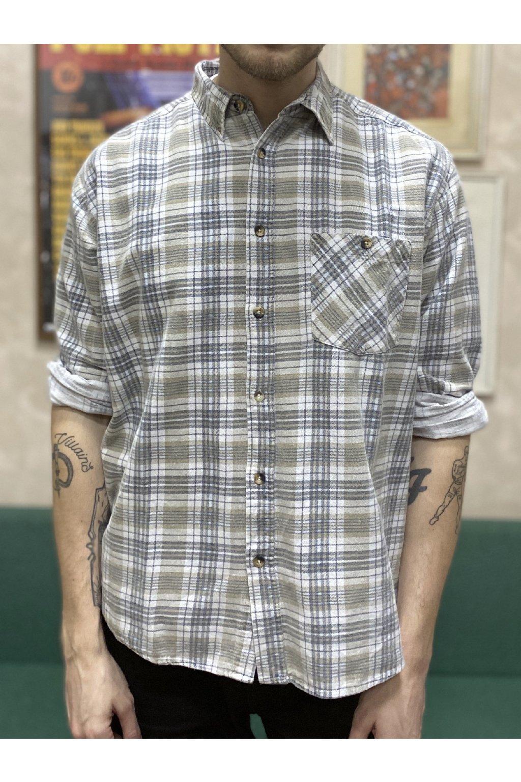 Károvaná flanelová košile vel. XL/XXL