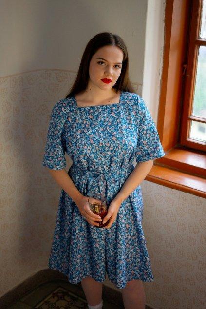 Velký letní šaty v modré