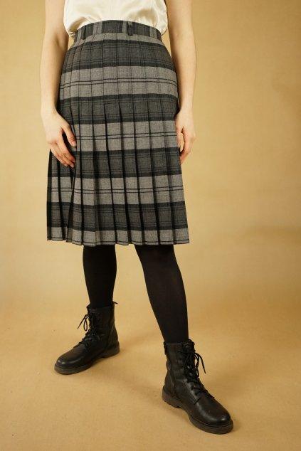 Károvaná vlněná sukně vel. XL/XXL