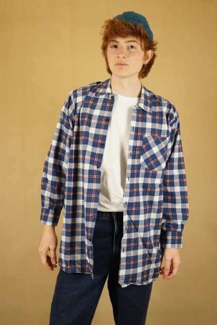 Károvaná flanelová košile vel. M/L