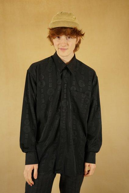 Černá vzorovaná košile vel. XL
