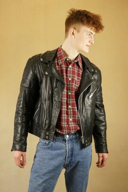Kožená biker jacket vel. M.