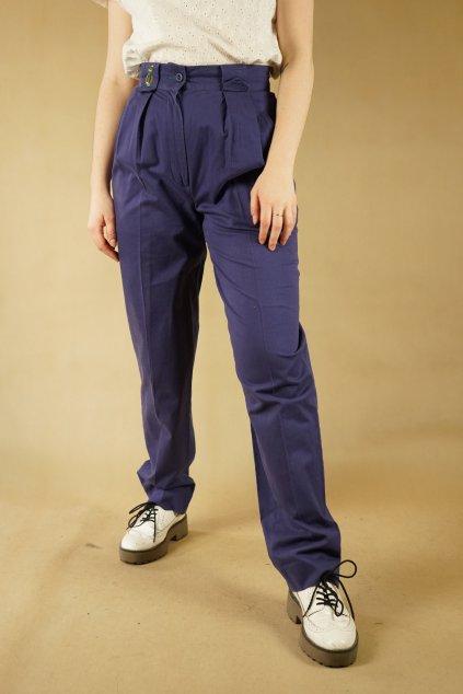 Modré kalhoty s výšivkou vel. S