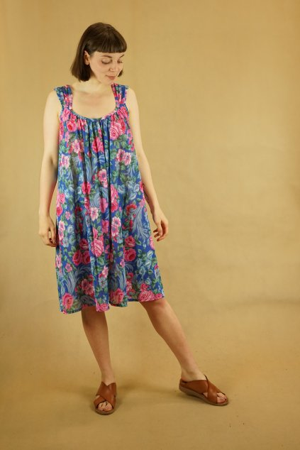 Květinové šaty vel. UNI