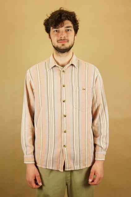 Flanelová vzorovaná košile vel. M