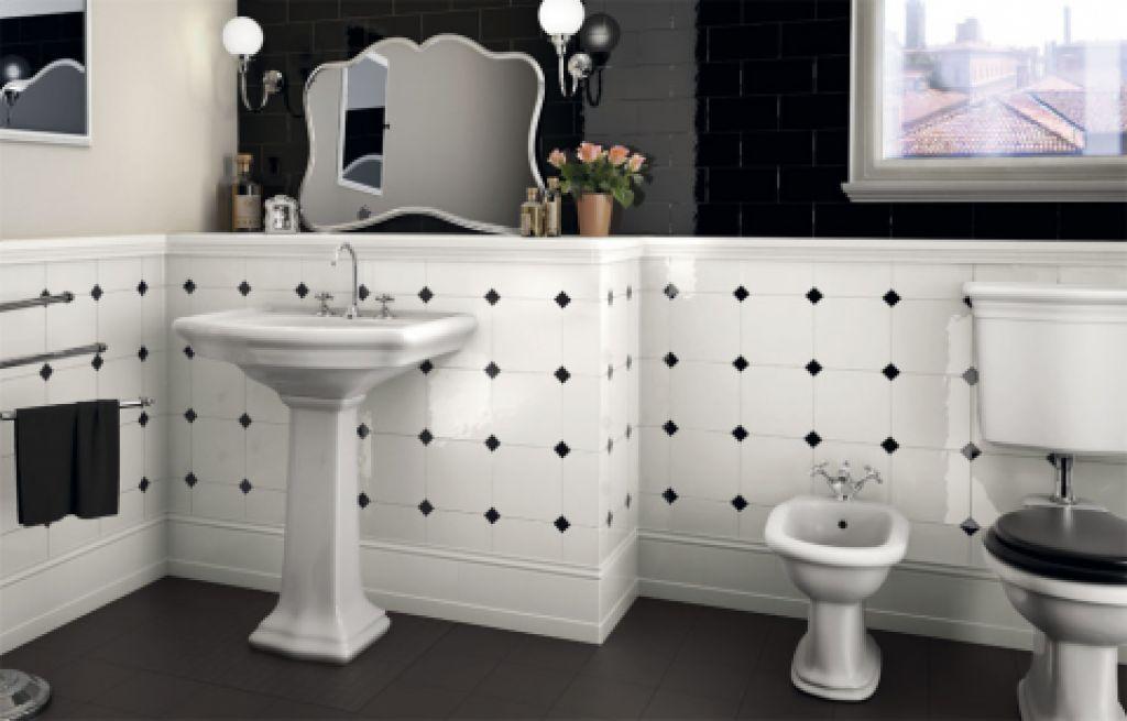 Retro koupelna je elegantní a vkusná …