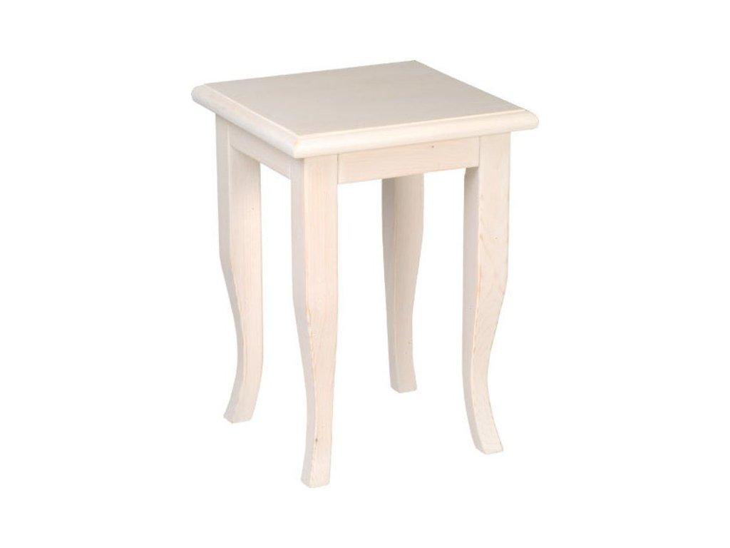 RETRO stolička 33x45x33cm, starobílá 1683