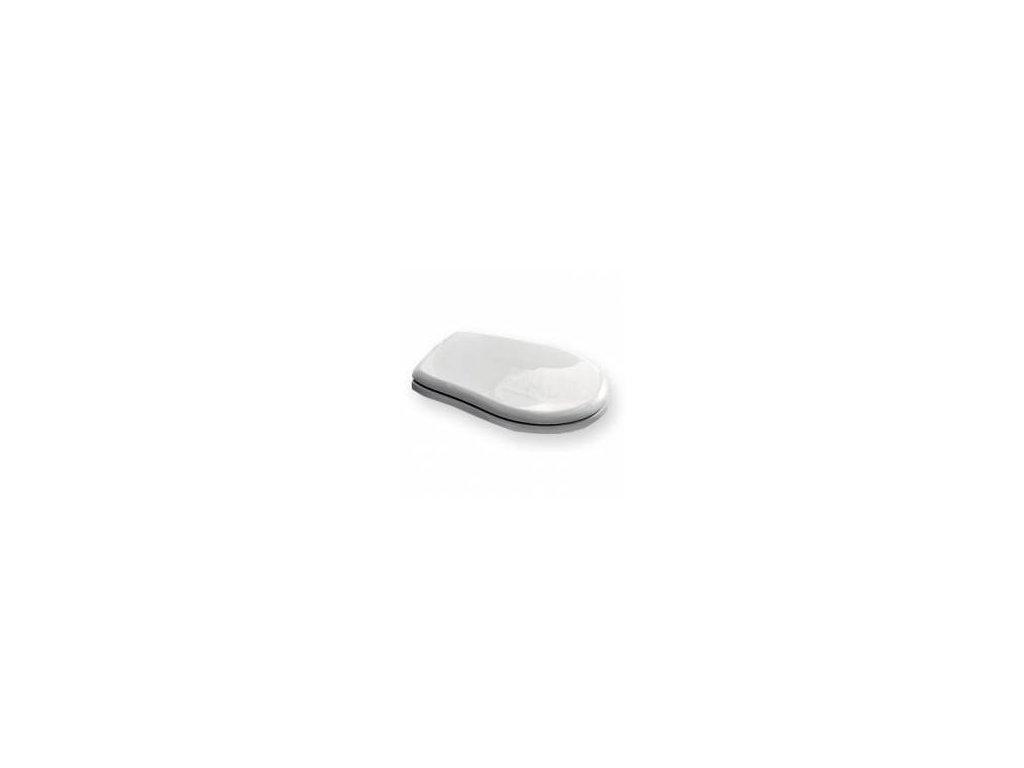 RETRO WC sedátko, polyester, bílá/bronz 109301