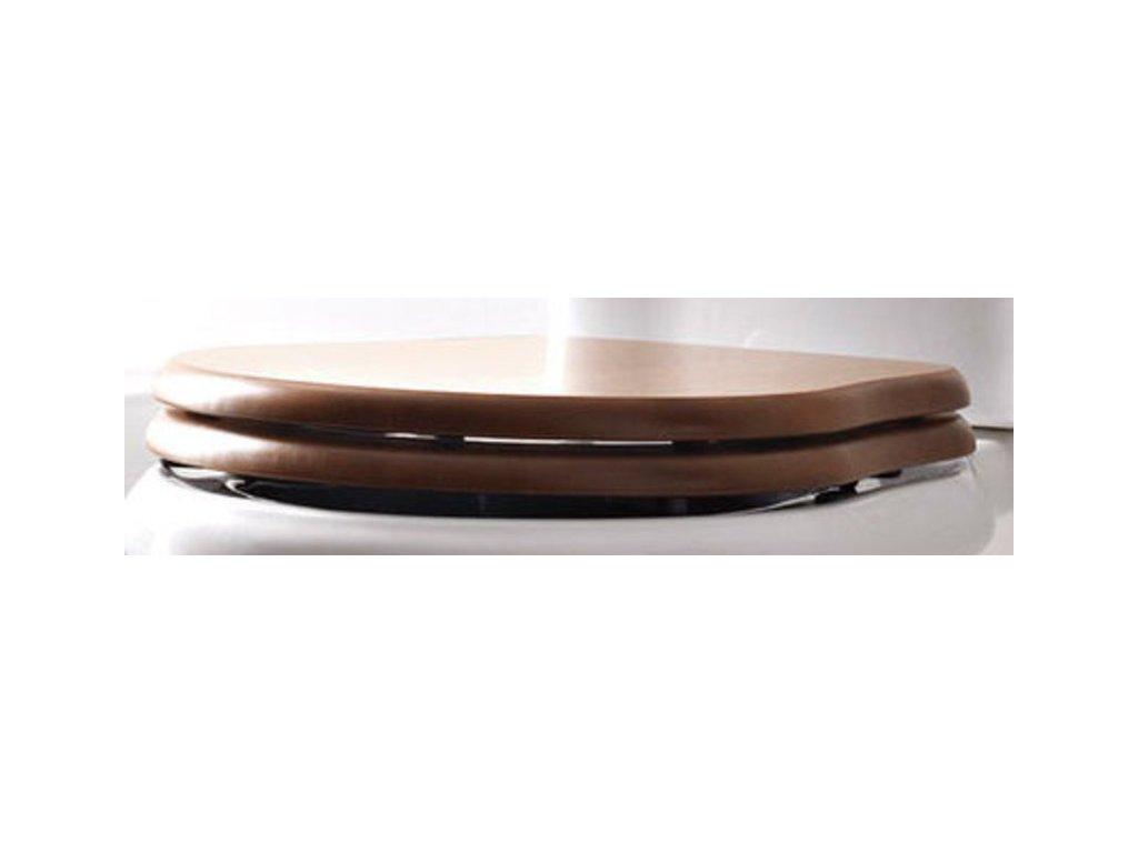RETRO WC sedátko, dřevo masiv, ořech/bronz 109340