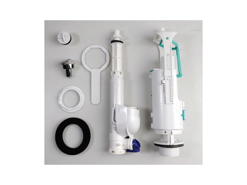 EGO-FLO-CENTO-RETRO úsporný splachovací mechanismus na WC kombi, chrom 750990