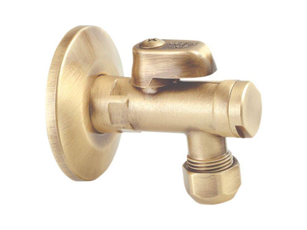 """Rohový ventil s matkou, 1/2""""x 3/8"""", bronz 2020BRO"""