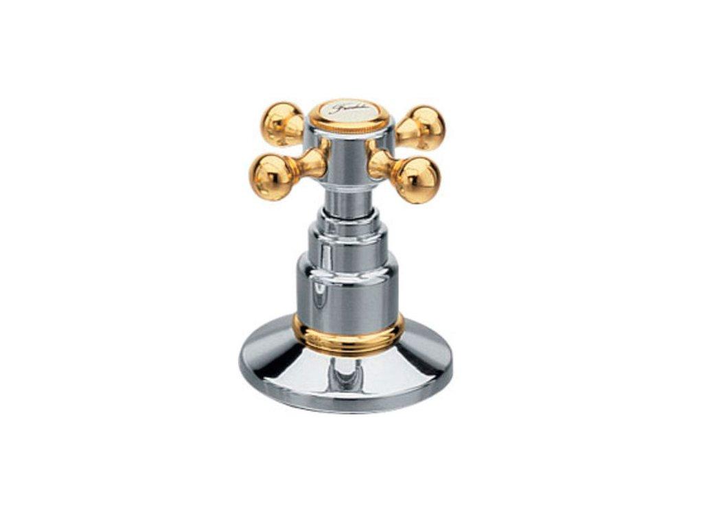 ANTEA podomítkový přepínač, chrom/zlato DEVIN22
