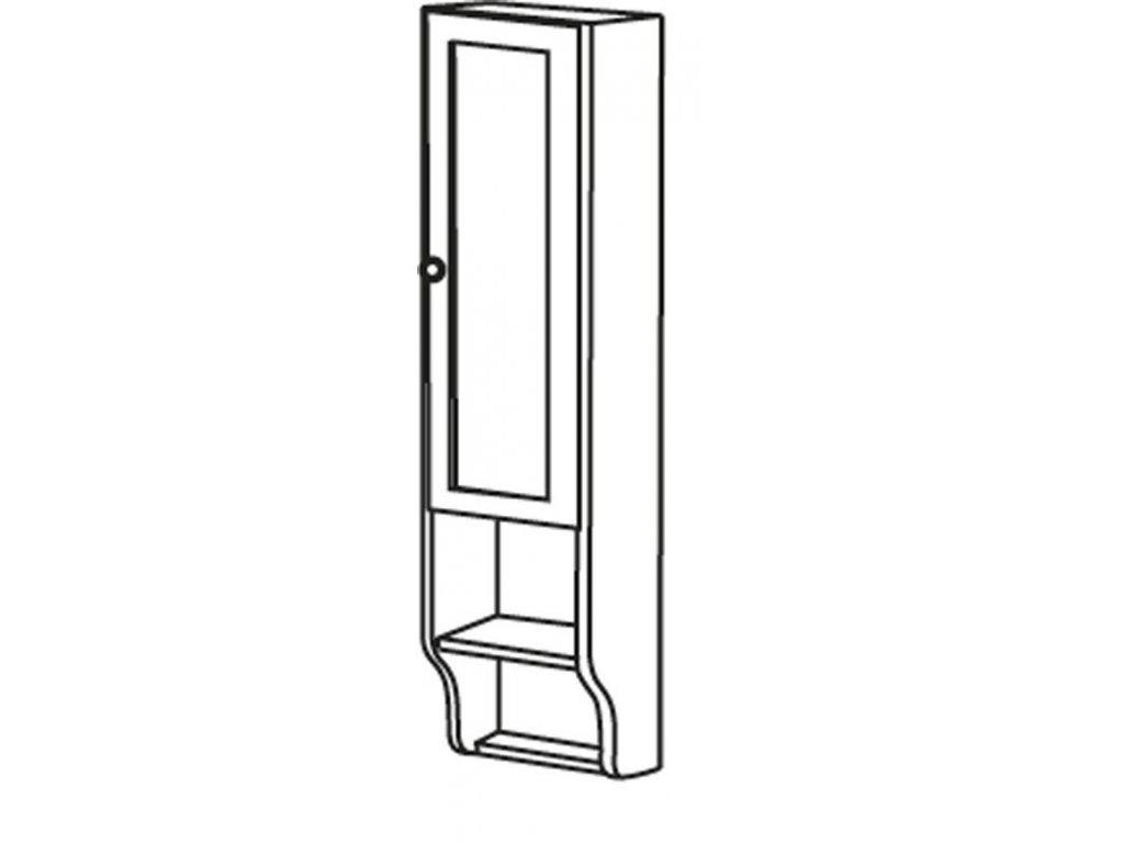 RETRO skříňka k zrcadlu 25x115x20cm, starobílá, pravá   (1688)