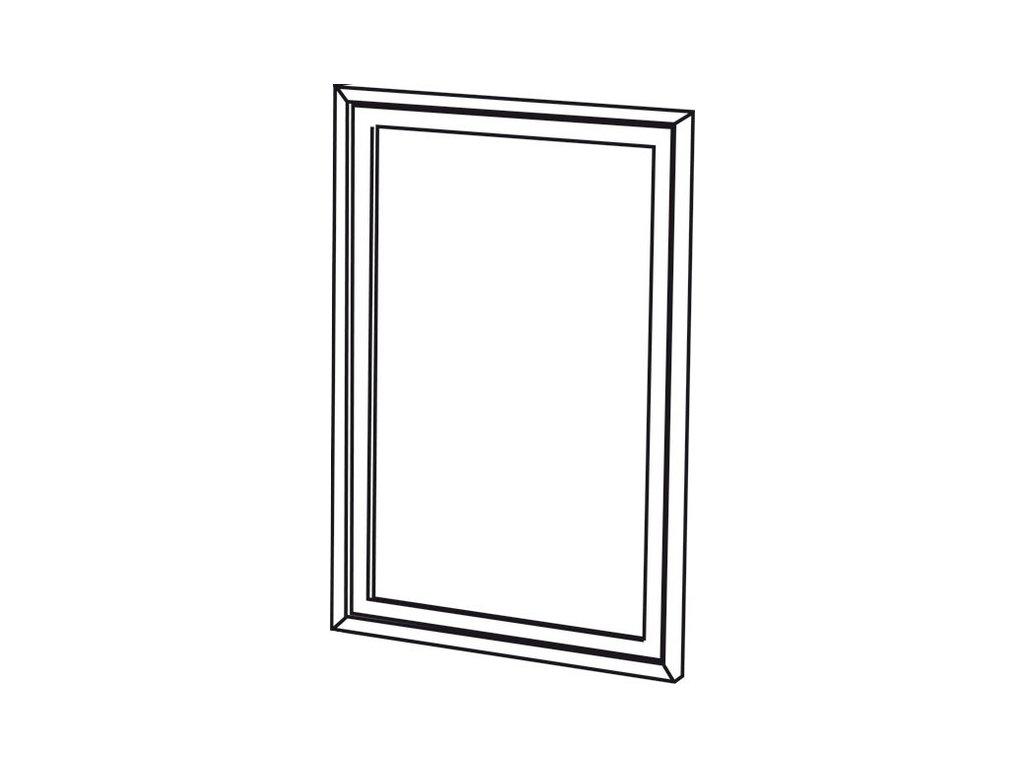 RETRO zrcadlo 70x115cm, starobílá 1686