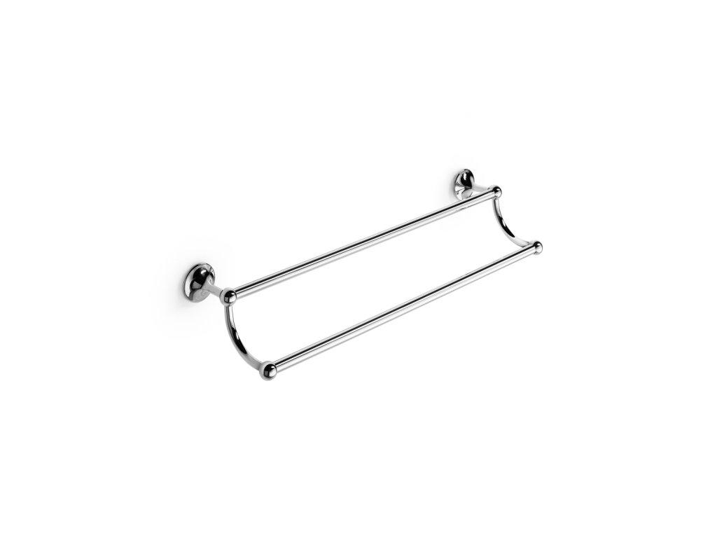 Lineabeta Venessia dvojitý držák ručníků 60cm chrom 52917.29