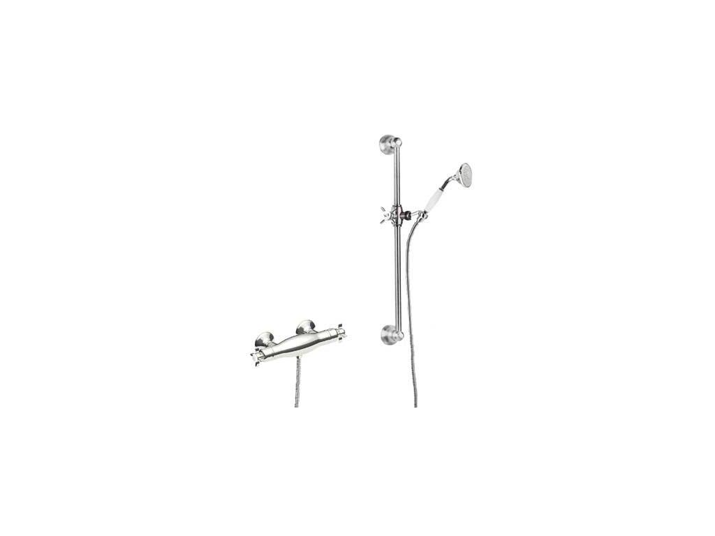 TRES RETRO termostatický sprchový set chrom 02416402