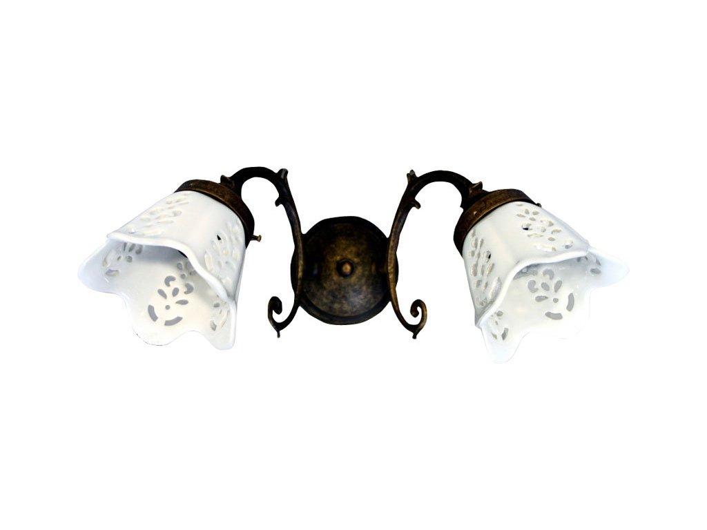 BRINDISI svítidlo E14 2x40W, 230V, keramické stínítko, bronz MC052