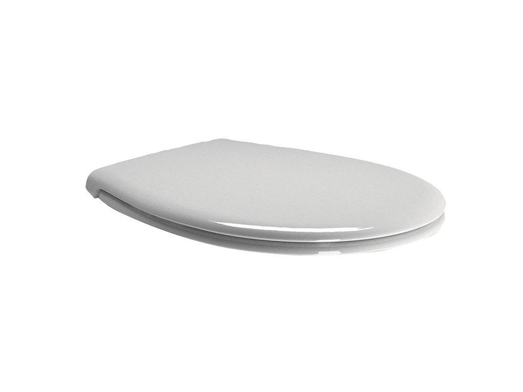 WC sedátko Soft Close, duroplast bílá/bronz