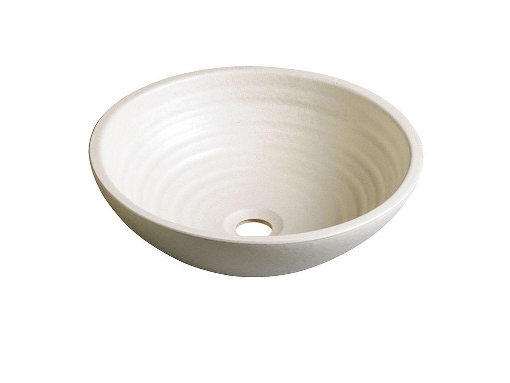 ATTILA keramické umyvadlo, průměr 42,5 cm, slonová kost DK005
